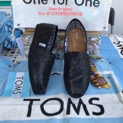 รองเท้า toms สีดำแต่งกลิตเตอร์ งานเกรดพรีเมี่ยม