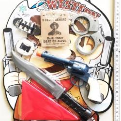 ชุดปืนคาวบอย+อุปกรณ์แผงจัมโบ้ 38 ซม.(1x3)