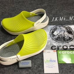 รองเท้า CROCS รุ่น LiteRide สีเหลืองพื้นเทา