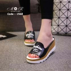 รองเท้าแฟชั่นนำเข้าน้ำหนักเบา เสริมส้นสูง สวยเก๋มาก