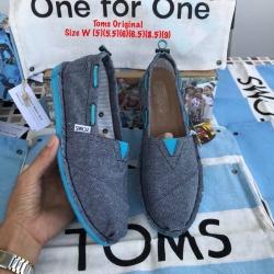 รองเท้า toms ผ้ายีนส์พื้นฟ้า งานเกรดพรีเมี่ยม