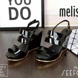 Collection melissa รองเท้าสวย ส้นเตารีด วัสดุซิลิโคนนิ่ม สูง 4 นิ้ว พื้นกันลื้น