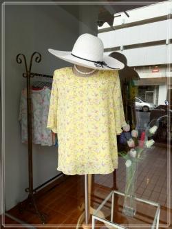 เสื้อชีฟอง Size 44 สีเหลือง