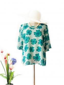 เสื้อชีฟอง size 42 สีเขียว
