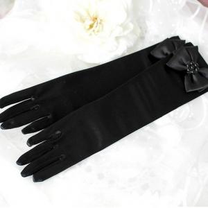 ถุงมือยาว สีดำ Size M(4-7 ปี)