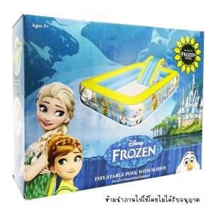 สระน้ำเป่าลม พร้อมสไลเดอร์ Frozen ขนาด 56x152x229 ซม.