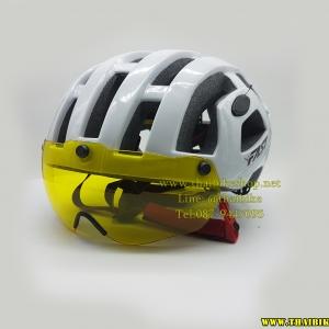 แว่นสีเหลืองใส่หมวก BUG (ราคาเฉพาะแว่น)