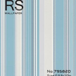 วอลเปเปอร์ลายทางสีฟ้าแกมขาวน้ำเงินสไตล์ยุโรปโมเดิร์น รหัส: 795820