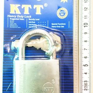 กุญแจเงิน KTT ขนาด 50 mm. คอสั้น