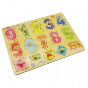 กระดานไม้ฉลุ ตัวเลข 0-9