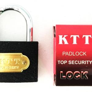 กุญแจดำ KTT 38 มิล คอสั้น+ลูกกุญแจ 3 ลูก