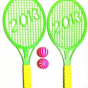 ไม้เทนนิส 2 ชิ้น+ลูกคละสี 31 ซม.