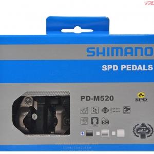 บันใดชิมาโน่ PD-M520, สีดำ, สีเงิน พร้อมคลีท, ไม่มีทับทิม