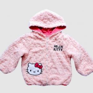เสื้อกันหนาว Hello Kitty สีชมพู - size 100