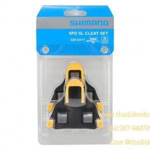 คลิ๊ปติดพื้นรองเท้า Cleat Sets บันใดเสือหมอบ รุ่น SM-SH11, สีเหลือง.