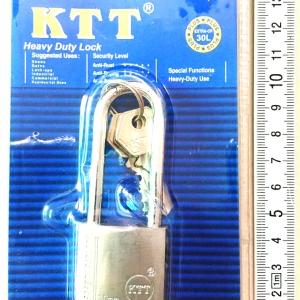 กุญแจเงิน KTT ขนาด 30 mm. คอยาว