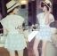 Lady Ribbon's Made Abigail Pretty and Sexy White Lace Mini Dress thumbnail 6