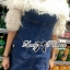Lady Ribbon's Made Lady Eve Off-Shoulder Ruffle Feather Denim Dress thumbnail 7