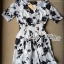 Lady Ribbon's Made Lady Rosie Classic Black and White Flowery Print Dress thumbnail 5