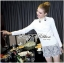 Lady Ribbon's Made Lady Chloe Insert Lace Embellished White Shirt Dress thumbnail 7