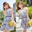Lady Ribbon's Made Lady Blue Flora Mini dress thumbnail 1