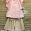 ชุดเซ็ทเสื้อกับกางเกง ลุคสาวหวาน สีชมพูพาสเทล thumbnail 4