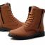 พร้อมส่ง รองเท้าบูทผู้ชาย รองเท้าหนัง รองเท้าหุ้มข้อ สีน้ำตาล แบบผูกเชือก ใส่แบบสุดเท่ thumbnail 5
