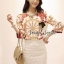 D&G Style Set Blouse Print with Lace Skirt by Seoul Secret thumbnail 1