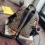 กระเป๋าเป้ทรงหลังเต่า ดีไซน์ casual เรียบหรูสไตล์แบรนด์ วัสดุผ้าเนื้อดีทอผสมดิ้นทองขึ้นลายแต่งขอบหนัง thumbnail 6