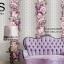 วอลเปเปอร์ลายทางดอกไม้ใหญ่โทนสีม่วงเงิน GAR3-B60W thumbnail 1