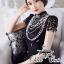 Valentino elegant black lace dress thumbnail 1