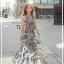 Cliona made' Lucy Charming Grey Summer Beach Long Dress thumbnail 8