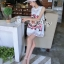 Sevy A Line 3D Vintage Sleeveless Mini Dress thumbnail 3