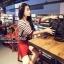 Set Knit Stripe Blouse Ornamental Fringe Sleeve with Clasper Skirty by Seoul Secret thumbnail 3