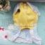 (พร้อมส่ง) ชุดกระโปรงสุนัข ลายจุด ทูโทน ฟ้า-เหลือง thumbnail 2