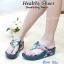 รองเท้าแฟชั่นสไตล์ fitflop หนังนิ่มลายดอกไม้พื้นนุ่มมากๆ thumbnail 1