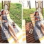Cliona made' Lucy Charming Grey Summer Beach Long Dress thumbnail 14