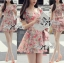 Lady Ribbon's Made Lady Rosie Sweet Flowery Chiffon Mini Dress thumbnail 4