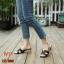 รองเท้าแตะแฟชั่น หน้าเฮอร์เมส ส้นสูงประมาณ 3 นิ้ว ส้นลายไม้ thumbnail 1
