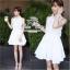 푸싱데이지 Pure white lily mini dress thumbnail 1