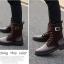 พร้อมส่ง รองเท้าบูทผู้ชาย รองเท้าหนัง PU แต่งกำมะหยี่ สีน้ำตาล แบบผู้เชือก มีสายรัดแข้ง ใส่เที่ยว ใส่ทำงาน ใส่สบาย thumbnail 2