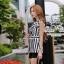 Black and white striped blazer-style set thumbnail 2