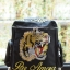 Tiger and Slogan Embroidered canvas backpack thumbnail 3