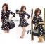 Lady Taylor Polka Dot Crop Jacket and Pleated Skirt Set thumbnail 4
