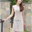 Lady Ribbon's Made Lady Jessica Classic Lace Dress in Ivory thumbnail 9