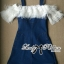Lady Ribbon's Made Lady Eve Off-Shoulder Ruffle Feather Denim Dress thumbnail 10