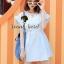 Lovely Light Blue Jeans Topper Lace Dress by Seoul Secret thumbnail 3