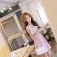 Luxury sweet rose floral Dress + (Belt set) thumbnail 1