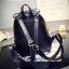 กระเป๋าเป้แบ็คแพ็คแฟชั่นสไตล์เกาหลี วัสดุหนัง pu เนื้อ Saffiano คุณภาพดี thumbnail 4