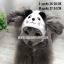 หมวกสุนัขแฟนซี ลายแพนด้า สีขาว พร้อมส่ง thumbnail 1